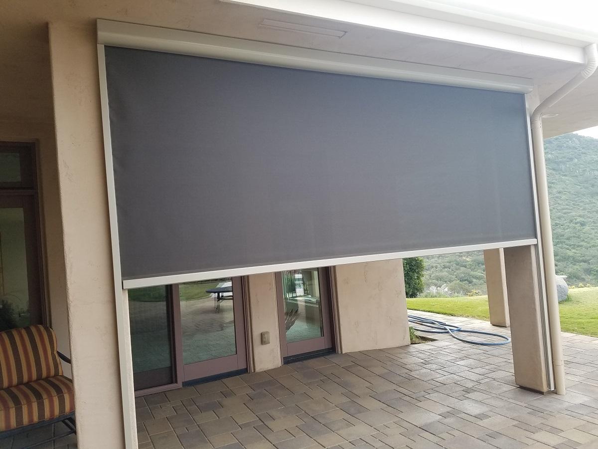 Retractable Exterior Solar Screen Shade