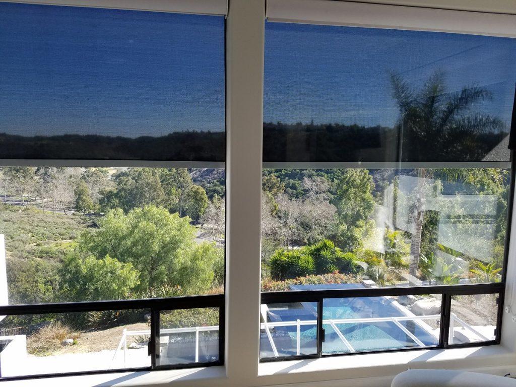 Retractable interior solar screen